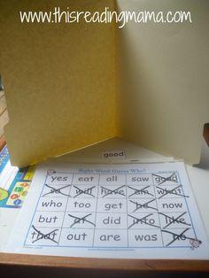 sight word guess who by @Becky Hui Chan Hui Chan Hui Chan Hui Chan Hui Chan @ This Reading Mama