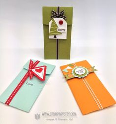 petite pocket gift card holders - stampin' up!