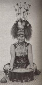 Fuatino Ponaivao Su'apa'ia,  a taupou (village maid of honour)  serving in the sacred kava ceremony, Samoa.