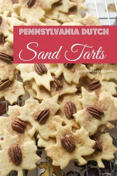 Video and blog post for Pennsylvania Dutch Sand Tarts, an Amish Christmas Cookie. An old family recipe treasured for years.