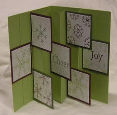 Christmas Card Swap Inside using Stampin Up Snowflake Spot