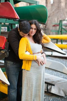 Maternity session on the river