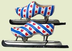 Dutch Wooden Shoe Skates