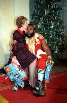 Nancy Reagan and Mr. T. Everything about this picture is better than everything else on Earth.