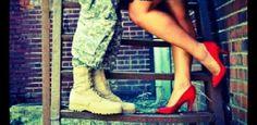 military couple photography | Cute photo idea #army #cute #couple #love #kisses #photography # ...