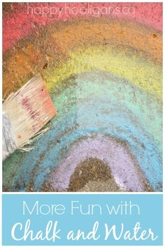 Sidewalk Chalk and Water Painting Activity - Happy Hooligans