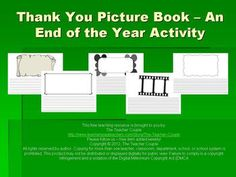 A great writing activity for the end of the year is to have students create picture books starring themselves and the people who have helped them a...