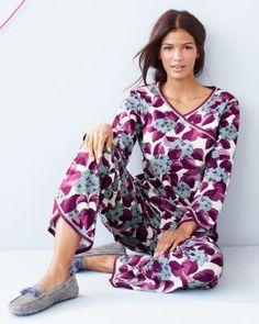 Asian Wrap Pajamas - Garnet Hill