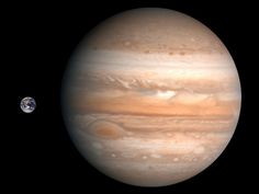 Earth and Jupiter - Comparison