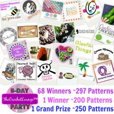 Over 700 patterns are being given away at The Crochet Lounge! Enter now!! :)