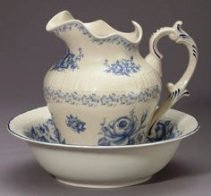 porcelain pitcher and wash bowl, a classic