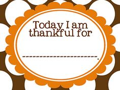 today i am thankful for........ printable