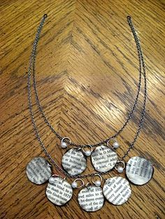 http://www.mandipidy.com/2010/11/tutorial-book-page-necklace.html