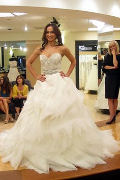 Lazaro wave skirt. Dress details: http://ow.ly/9OtDy #Weddings #SYTTD