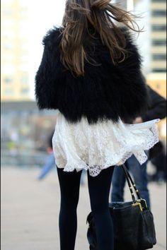 Fur and lace