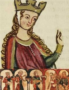 Eleanor of Aquitaine (1122 – 1204). First wife of both Louis VII of France and Henry II of England. Queen of France from 1137 - 1152. Queen of England from 1154 - 1189. She married Henry after divorcing Louis VII of France. They had many children and she led her sons in rebellion against their father. She was the mother of Henry the young king, Richard I, and King John.