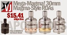 Vapor Joes - Daily Vaping Deals: BIG BROTHER: MAGMA GOES 30MM FOR 26650s - $15.41