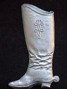 Antique Dresden Boot Ornament