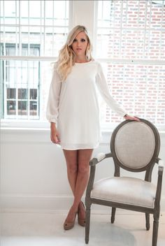 Simple elegance!!   WHITE COLLECTION Piedmont dress - ivory $58