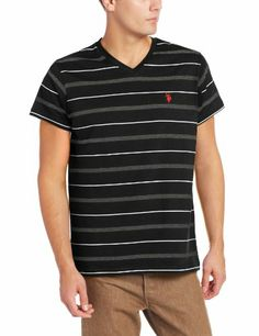 U.S. Polo Assn. Men's Embroidered Short Sleeve Striped V-Neck T-Shirt, Black, XX-Large Sale - http://mydailypromo.com/u-s-polo-assn-mens-embroidered-short-sleeve-striped-v-neck-t-shirt-black-xx-large-sale.html
