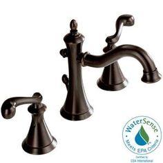 Delta Vessona 8 in. Widespread 2-Handle Mid-Arc Lavatory Faucet in Venetian Bronze