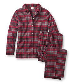 Tartan Flannel Pajama Set: Sleepwear   Free Shipping at L.L.Bean- either of the royal Stewarts - medium.