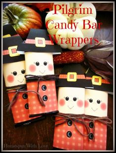 Pilgrim Candy Bar Wrappers
