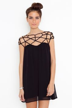 Love this, spider's web effect - I'd wear it for Halloween #lbd
