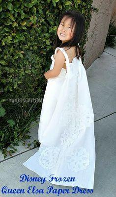 being MVP: Disney Frozen Queen Elsa Paper Dress {DIY} #ScottValue #PMedia #ad