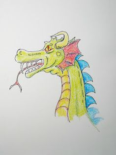This is the illustration for how to draw a dragon lesson, You can see the lesson at my blog it is an easy lesson for young artist. http://drawinglessonsfortheyoungartist.blogspot.com/2012/06/how-to-draw-dragon-face-lesson-and.html#