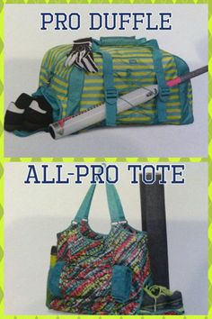 Thirty-One Gifts - April Special 2014 - You don't want to miss out!  The all NEW All-Pro Tote & the returning Pro Duffle ...both are  ONLY $25 in April with every $35 you spend! #ThirtyOneGifts #ThirtyOne #Personalization #AprilCustomerSpecial #TotesAndDuffles