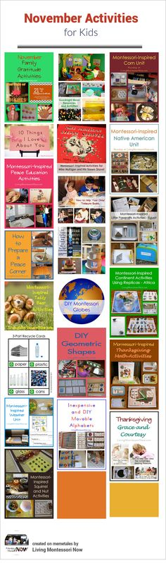 November Themed Activities for Kids (Calendar-based observances throughout the month along with lots of themed activities)