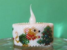 Instant Download: Mouse Christmas Tree Tea Light Cover Pattern