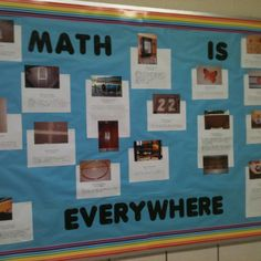 Students took a walk around the school and took pictures of real life objects that represented real world math and then wrote about what they found.
