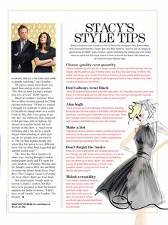 Stacy London's Style Tips