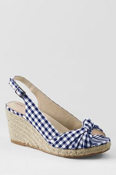 summer dresses, blue, summer shoes, lands end, espadrilles, woman clothing, wedges, knot espadrill, picnic