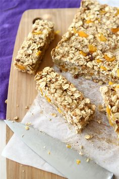 Low Fat Granola Bars with Mango, Hazelnut & Ginger Recipe by @Cookin' Canuck Dara Michalski