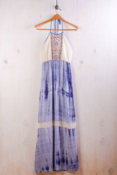 Blue Tye-Dye Dress on BourbonandBoots.com