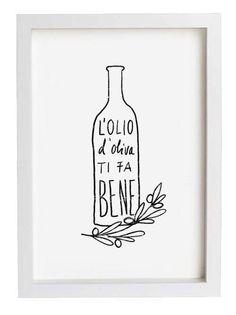 kitchens, natur skin, olive print, olive oils, kitchen prints, oliv oil, kitchen art, art prints, italian food illustration