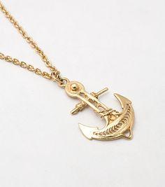 Anchor Necklace, Vermeil
