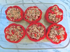 turkey and brown rice stuffed peppers