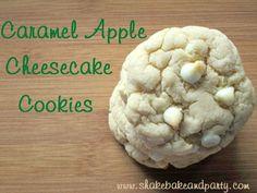 Caramel Apple Cheesecake Cookies
