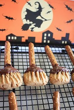 Witch broomstick cookies @Alicia T Hale