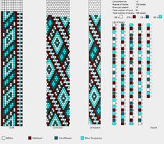 Жгуты вязания крючком из бисера