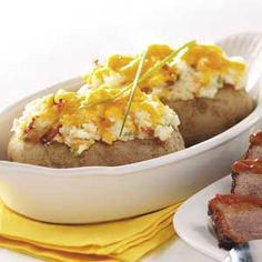 Bacon Twice-Baked Potatoes Recipe from Taste of Home -- shared by Debbie Jones of California, Maryland