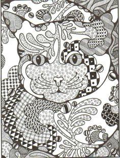 Zentangle ~ cat