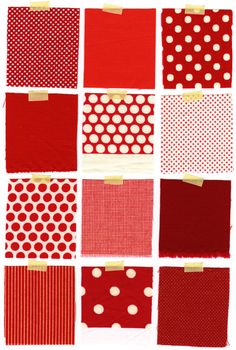red pattern swatches, #yearofcolor