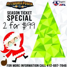 Give the gift that keeps on giving- well at least for a entire Power season!   Pittsburgh Power 2014 season tickets start for as low as 2 for $99!