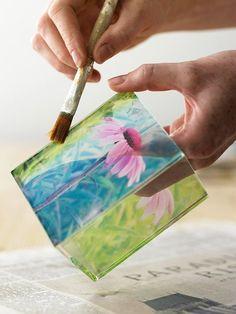 DIY | photo transfer onto glass