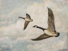Photo gallery of artwork by President Packer (pictured: Flying Geese)